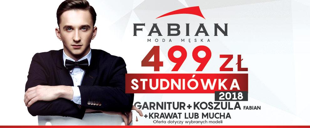 537d1df8a2aee Za zestaw: garnitur + koszula Fabian + krawat/mucha zapłacisz jedynie 499  zł! Promocja dotyczy produktów z oferty studniówkowej i obowiązuje do  28.02.2018r.